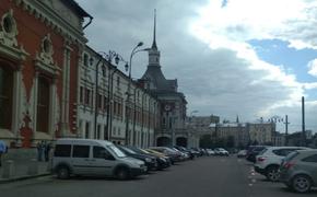 В Москве горит здание на площади трёх вокзалов