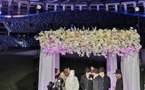 На стадионе «Нижний Новгород» прошла иудейская свадьба