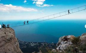Фотография подвесного моста на вершине Ай-Петри стала одной из лучших по версии медиакорпорации CNN