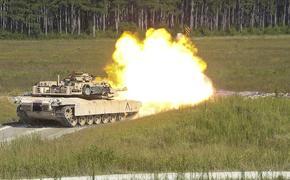 Появилось видео стрельбы американских танков у границы Белоруссии