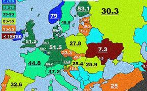 Россия богаче Чехии  …