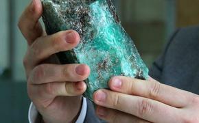 На Урале нашли гигантский изумруд