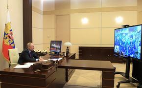 Путин поздравил экипаж МКС с Днем космонавтики и рассказал о разговоре с Трампом