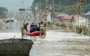 Ливни в Японии привели к масштабному наводнению