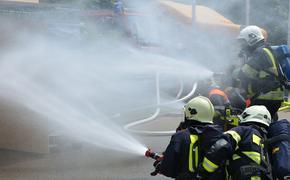 В Химках произошел пожар на горнолыжной базе