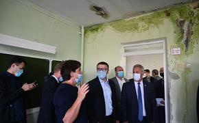 Алексея Текслера возмутила протекающая кровля в школе Локомотивного