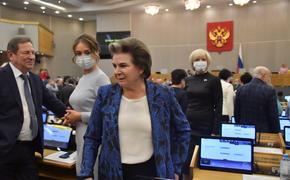Спикер Госдумы Володин перевел Терешкову и Чилингарова на удаленную работу