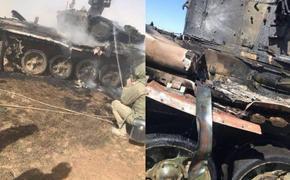 Во время военных учений в Астрахани подбили танк Т-90A. По нему по ошибке выстрелили свои же