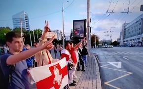 На гостелеканалах Белоруссии в интернете показали вместо новостей видео акций протеста
