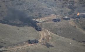 Министерство обороны Азербайджана опубликовало видео уничтожения военных колонн противника