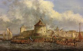 Армия Петра I приступила к осаде шведской цитодели Нотебург 7 октября 1702 года