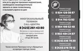 Куда звонить при первых признаках инфекционных заболеваний  в Приморском крае