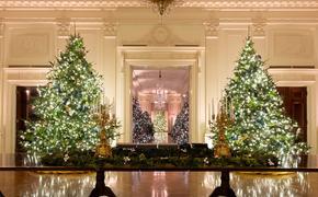 Мелания Трамп напоследок украсила Белый дом на Рождество