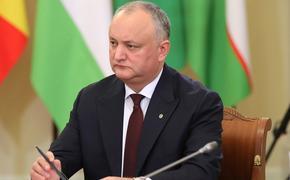 Додон считает, что Санду может закрыть молдавским аграриям выход на российский рынок