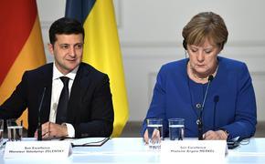 Меркель побеседовала по телефону с Зеленским