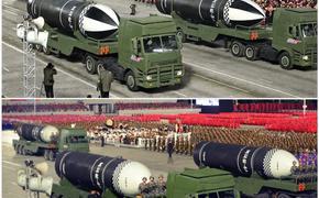 На военном параде в Северной Корее продемонстрировали новую баллистическую ракету