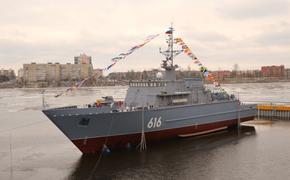На Средне-Невском заводе выведен из цеха строящийся корабль противоминной обороны