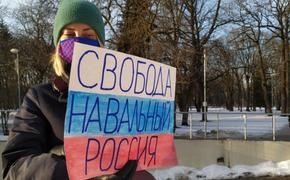 В Риге прошел пикет в поддержку Алексея Навального