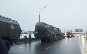 Колонна ПГРК «Ярс» прибыла в Алабино