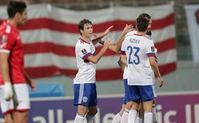 Сборная Мальты терпит поражение от России - 1:3