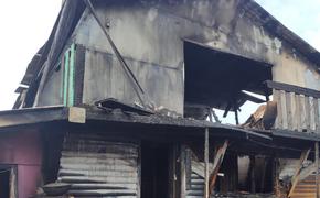 Семья в Хабаровской крае осталась без дома из-за пожара
