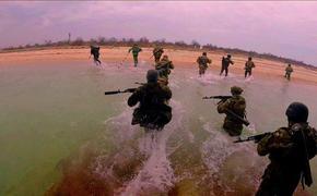 Украинский москитный флот провёл военные учения по высадке десанта на Черноморском побережье