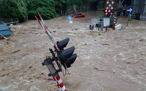Новое наводнение из-за ливней началось на юге Бельгии