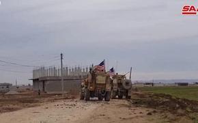 На северо-востоке Сирии мирные жители заблокировали продвижение американского военного патруля