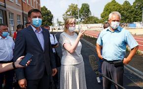 Кубанский вице-губернатор Анна Минькова побывала с рабочим визитом в Брюховецком районе