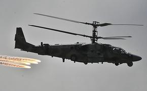 Российские ударные вертолёты Ми-28Н и Ка-52 уничтожили бронетехнику условного противника, применив новую тактику