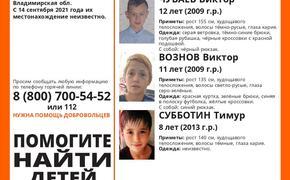 В городе Покрове Владимирской области пропали трое мальчиков  8, 11 и 12 лет