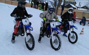 В мороз на мотоциклах