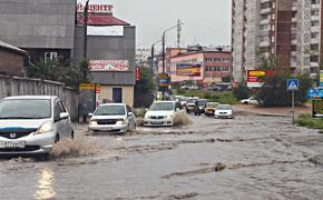 В Улан-Удэ пожар сменился потопом