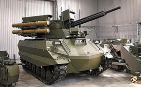 Боевые роботы России атакуют врага
